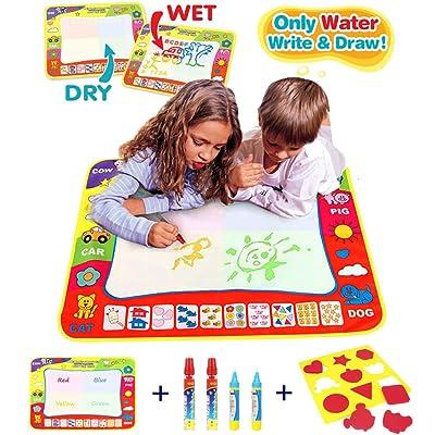 80CMx60CM Tapis de Dessin/ Aqua Eau Doodle Magic Tapis Enfants Dessin Jouets Mat Magic Pen - 1 Mat 4 Wate 1 EVA Graphic