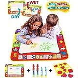 Aqua Magic doodle Malmatte/Wasser Drawing Painting Mat(80cm x 60cm)with 4 Color,CJbrother Magnetic Water doodle Doodle Matte zum Bemalen mit 4 Wasser Doodle Stifte + 1 Malerei-Vorlagen + 1 EVA-Grafik