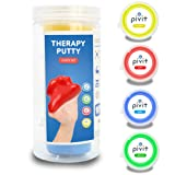 Pivit Therapy Putty Hand Exerciser Stress Balls for Adults | 4 Pack | Fingers Hands & Grip Strength Trainer Puddy | Extra Soft Soft Medium & Firm Resistance Kit | Theraputty for Rehab Physical Therapy