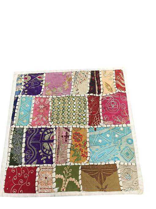 Manta decorativa cojín casos, Vintage Patchwork bordado con ...