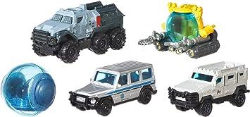 Jurassic World Matchbox Pack de 5 Coches Juguetes, Modelos Surtidos (Mattel FMX40): Amazon.es: Juguetes y juegos