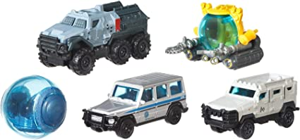 sortiert Jurassic World Die-Cast Fahrzeug 5er-Pack Mattel Matchbox FMX40