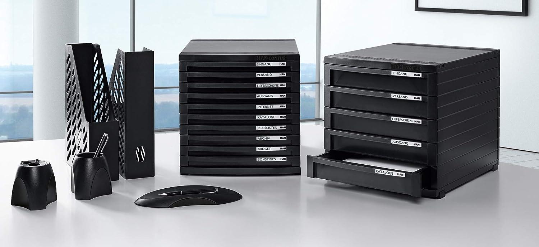 Han Contur color gris claro y gris Unidad de almacenamiento de escritorio 10 cajones cerrados, tama/ño B4