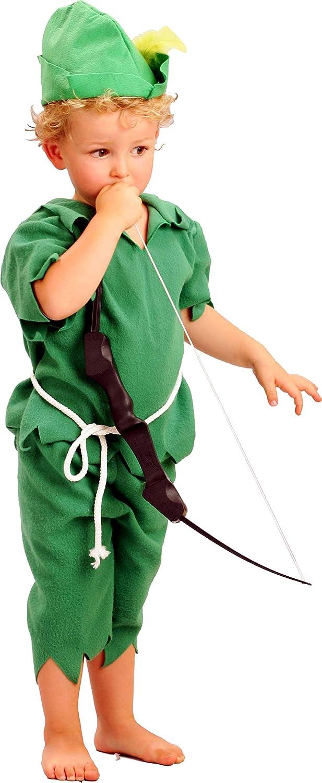 FIORI PAOLO 61315.3-4 - Disfraz de niño Peter Pan, Verde, 3-4 años ...