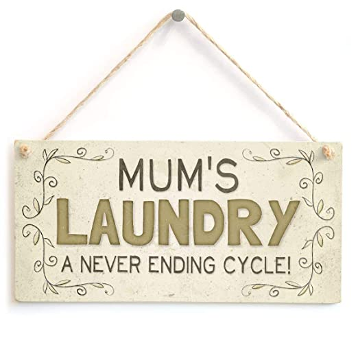 Mr.sign Mums Laundry Cartel de Pared Madera Placa Madera ...