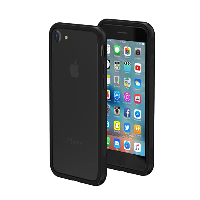 the latest 22691 63e75 iPhone 7/8 Case - ThanoTech K11 Bumper - Lightweight Aluminum TPU - Matches  Your Phone Seamlessly - Slim, Durable, and Shockproof Protection - Black