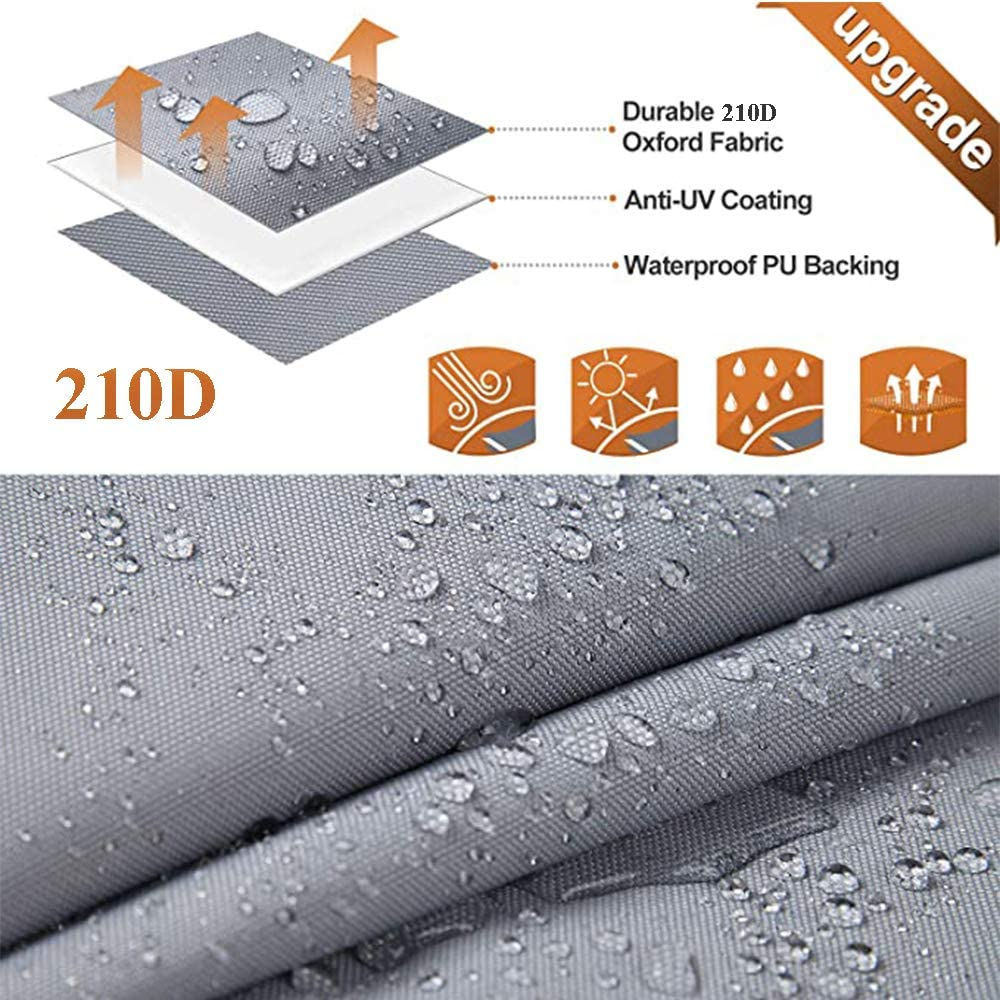 210D Heavy Duty Waterproof Trailerable Runabout Boat Cover Fit V-Hull Tri-Hull Fishing Ski Pro-Style Bass Boat Cover HOYOCE 4 Seasons Large Size Boat Cover