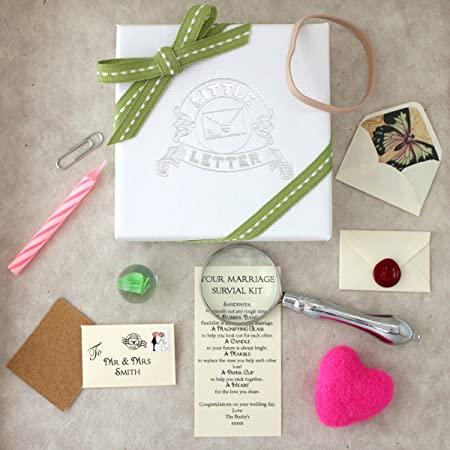 Personalised Wedding Gift - Marriage Survival Kit: Amazon.co.uk ...