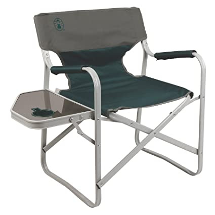 Admirable Coleman Outpost Breeze Portable Folding Deck Chair With Side Table Ocoug Best Dining Table And Chair Ideas Images Ocougorg