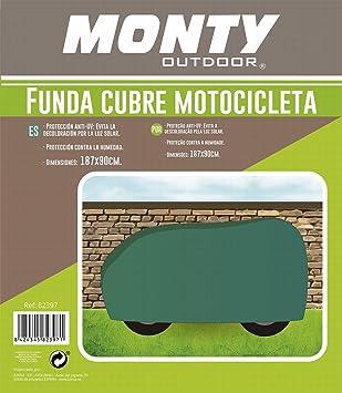 Ldk Garden Funda de Moto Rafia Verde 187 x 90 cm