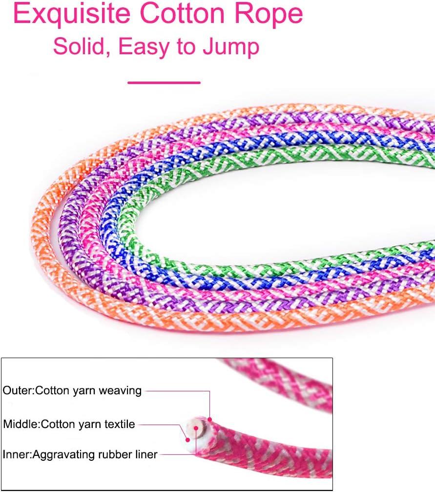 Actividad al Aire Libre el Juego Escolar Saltar Cuerda Ajustable Algod/ón Cable Velocidad Cuerda con Contador y Mango de Espuma para Entrenamiento Jestool Cuerda para Saltar Adelgazamiento