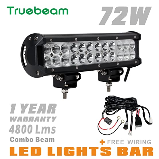 717qsIoBurL._SX554_ amazon com truebeam 12inch led light bar with wiring harness 12 inch led light bar with wiring harness at gsmx.co