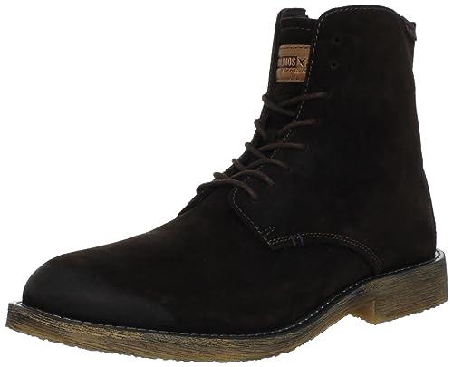 Barcelona 01N-6111S 01N-6111S - Botines de cuero para hombre, color marrón, talla 44: Amazon.es: Zapatos y complementos