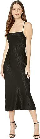 ASTR the label Women's Sleeveless Square Neck Trinity MIDI Slip Dress