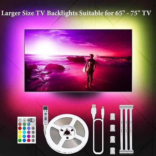 Tiras LED para TV de 65 a 75 pulgadas.: Amazon.es: Iluminación