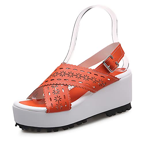 New-Loft Ankle Strap Ladies Sandals Retro Fretwork Platform Back Strap Zapatillas Mujer Casual Shoes