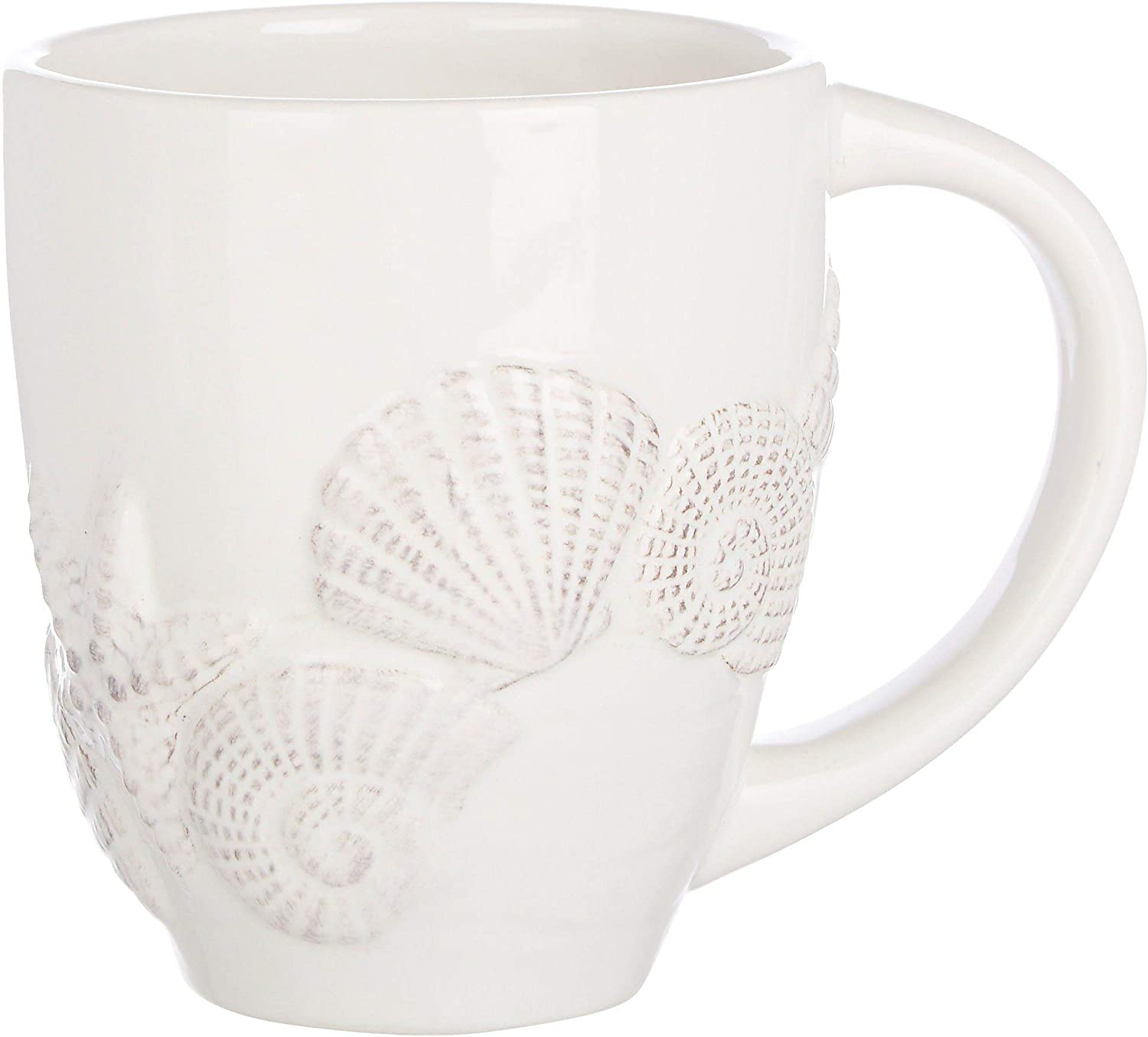 Coastal Home Round Seashell Mug One Size