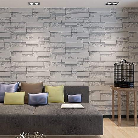 HANMERO Wandwelt Modern Holzoptik Steinoptik Retro Vliestapete 3D Scrubs 6  Farben 0,53 * 10m für Whonzimmer, Schlafzimmer, Flur, Hotel Wallpaper ...