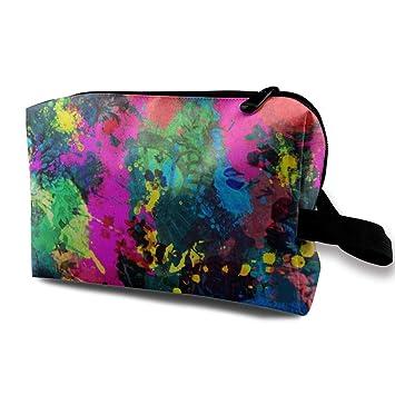 cfc263bb60c2 Amazon.com : Paint Splatter Dark Storage Bag Women Travel Makeup ...