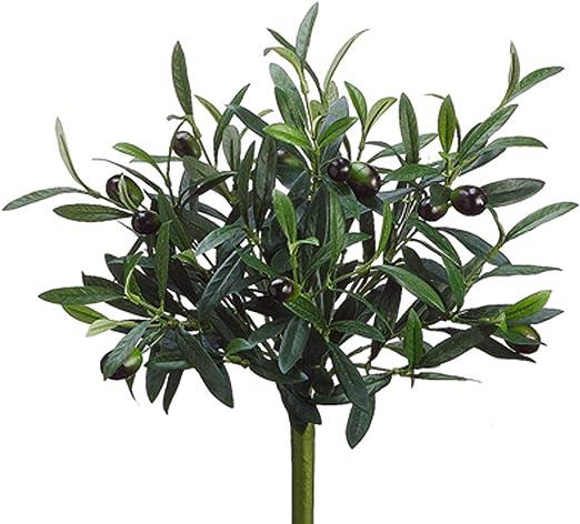 "14/"" Artificial Olive Branch Stems Bush Greenery Silk Flowers Farmhouse Decor"