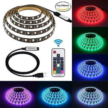 Amazon led light strips waterproof 328ft 5050 60leds 5v led light strips waterproof 328ft 5050 60leds 5v flexible rgb usb tv backlighting aloadofball Choice Image