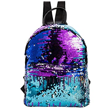 9c9e5f5455 Women Sequin Backpack Color Change Glitter Backpacks Bling School Travel  Rucksack Handbag for Women