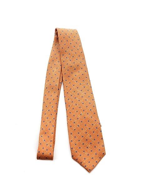 promo code 9bb1c 66286 BARBA Cravatta Uomo 385324613 Seta Arancione: Amazon.it ...
