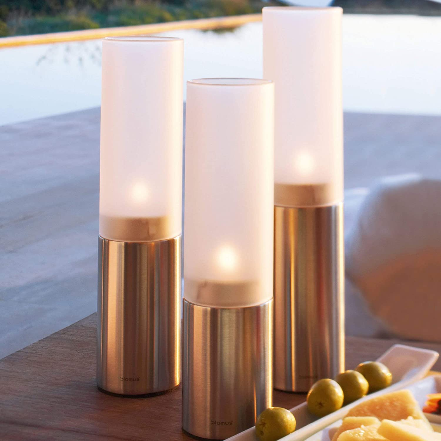 FARO stainless steel tea light holders from BLOMUS.Set of 3 or individual.