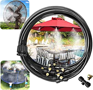 Landgarden Outdoor Misting Cooling System,Misting Line,Brass Mist Nozzles for Patio Garden Greenhouse