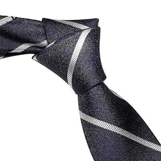 GuanBen Corbata de Hombre, patrón de Rayas de Seda 8cm Caballero ...