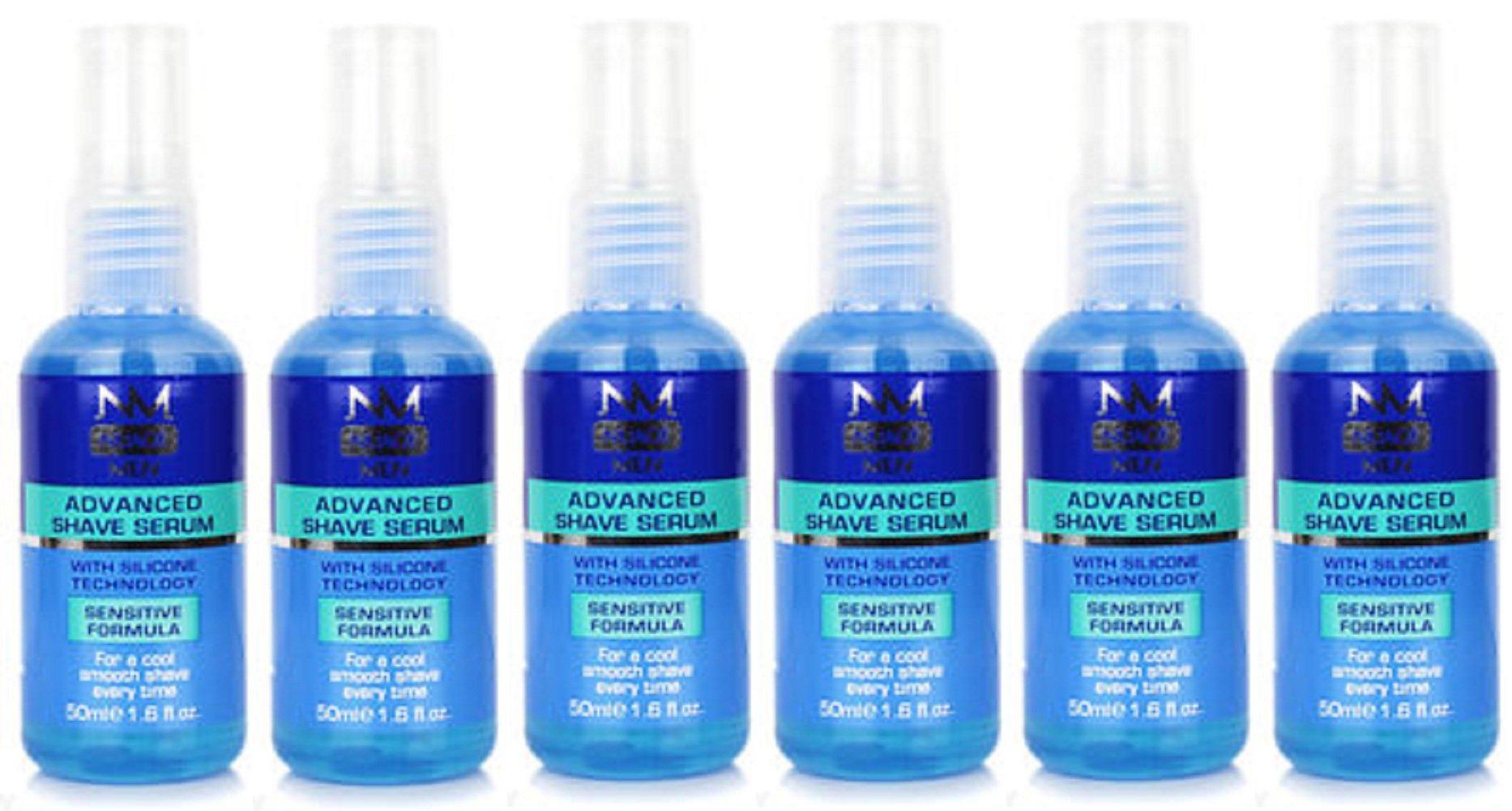 x6 Nuage Men Advanced Shave Serum with Silicon Technology Sensitive Formula 50ml