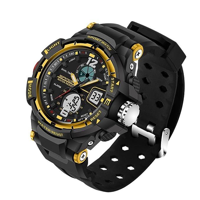 Relojes inteligentes para Hombres Los relojes electrónicos Resistente contra Agua 50m Moda Color Sólido Deportes al aire libre Esquí,montañismo, ...