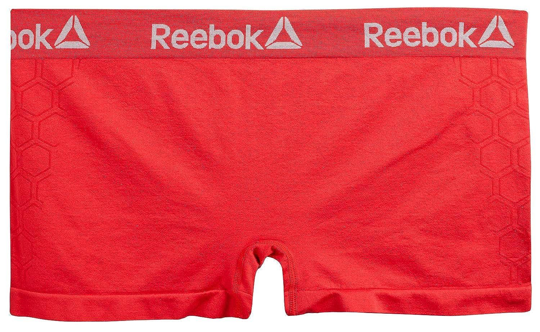 3 Pack Reebok Women Plus Size Seamless Boyshort Panties Underwear