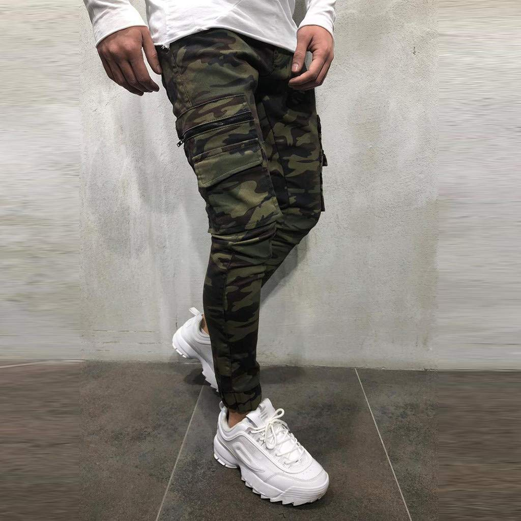 Palarn Sports Pants Casual Cargo Shorts Fashion Mens Sport Jogging Cargo Pocket Camouflage Pant Casual Loose Jeans Pant