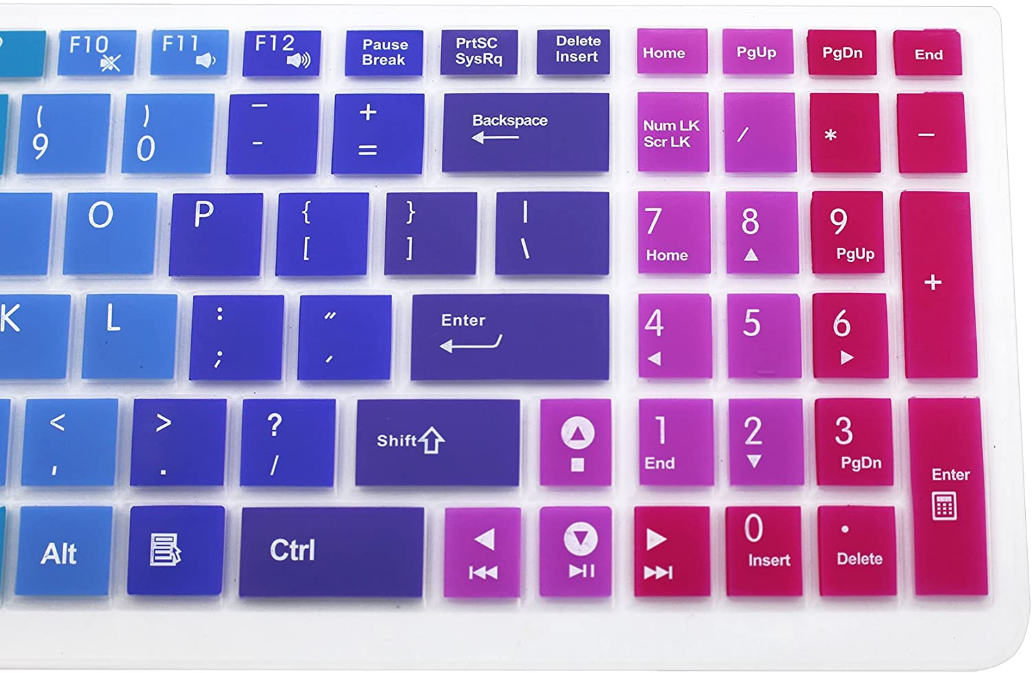 Silicone Keyboard Cover Skin for 15.6 inch ASUS GL552VW K501UX K501LX K501UW F554LA F555LA F555UA F556UA P2540UA GL502VS GL752VW UX501VW X540LA X550ZA Q503UA Q552UB X540SA R556LA N551JQ Ombre Pink