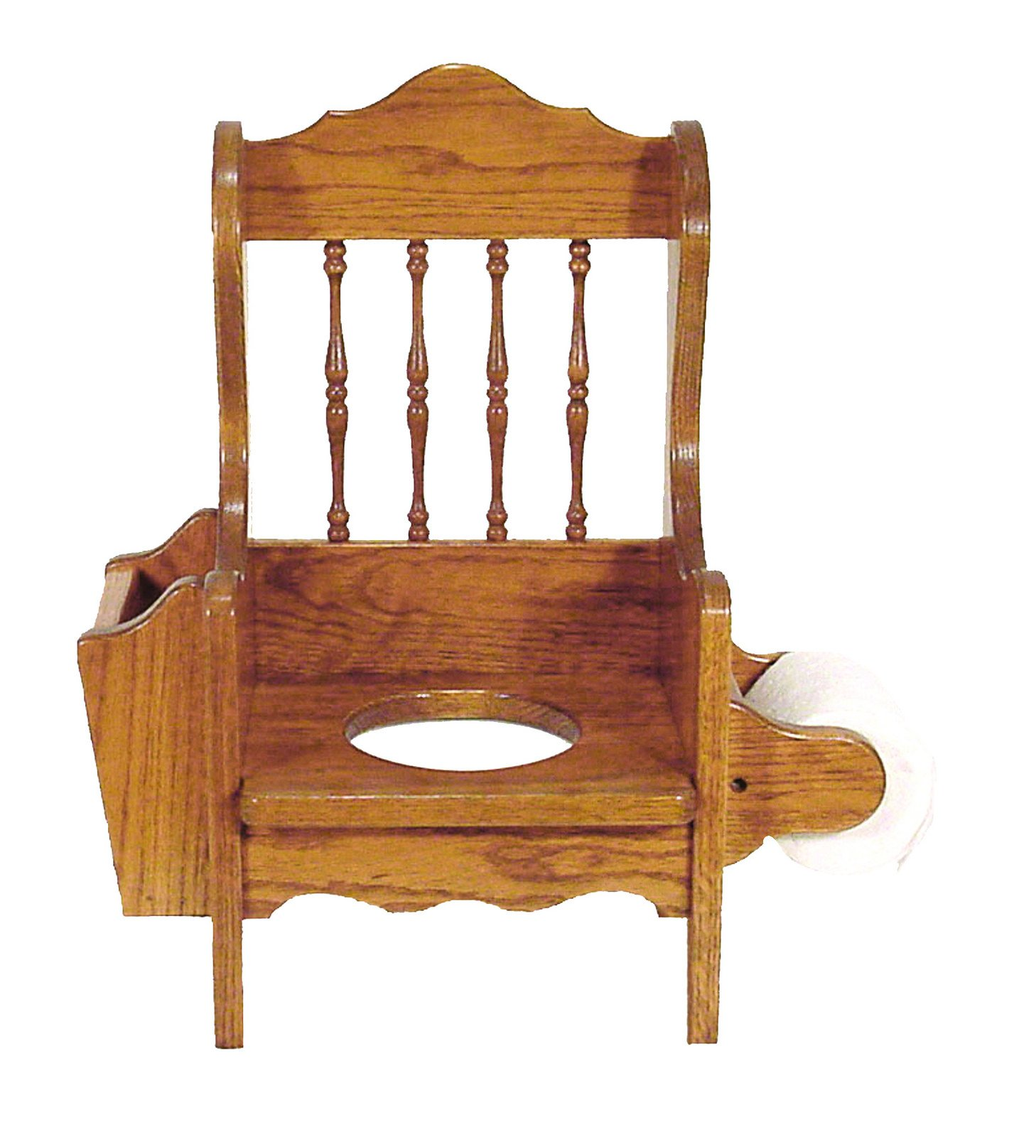 Child's Oak Potty Chair - Amish Made in USA