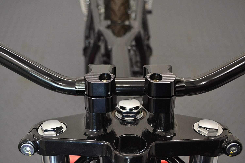 Lega Nero 7//8 Pollici Brat Bikes /& Streetfighters per Scrambler Moto Drag Handlebars- 22mm