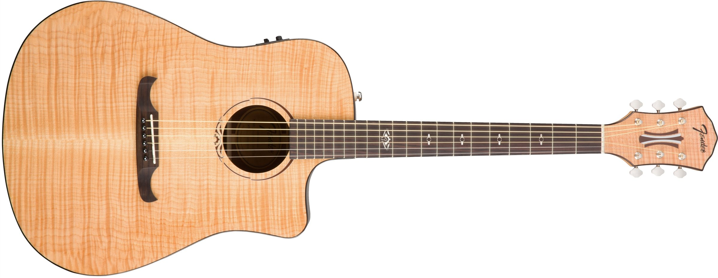 Fender T-Bucket 400 Acoustic Electric Guitar, Rosewood Fingerboard - Natural