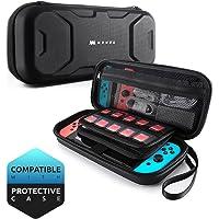 Mumba Custodia Nintendo Switch, Cover Protettiva da Viaggio [Doppia Protezione] per Nintendo Switch Carrying Case per Joy-Con, Caricabatteria, Cartucce(max 20), ed altri Accessori (Blu)