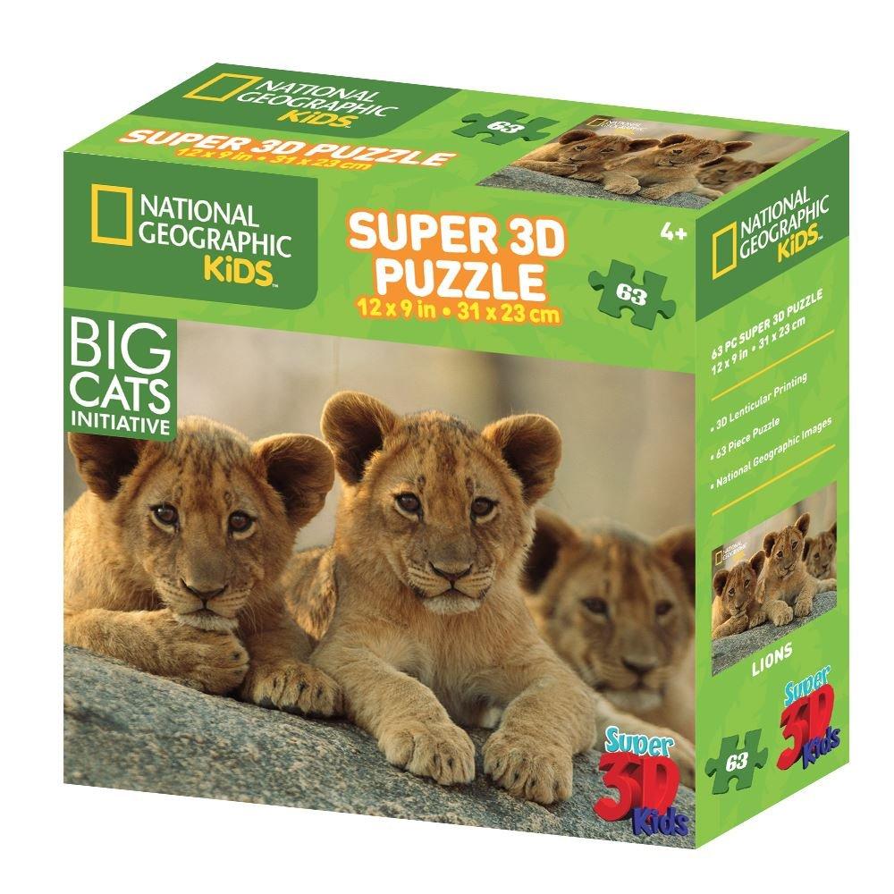 amazon com national geographic kids 63 piece 3d puzzle jigsaw big