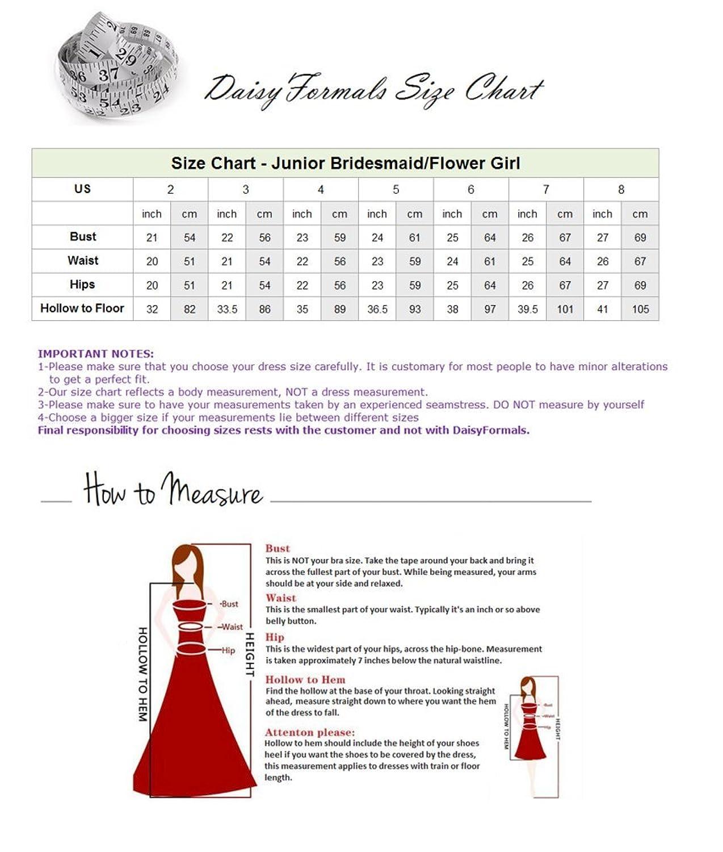 DaisyFormals Long Junior Party Dress One Shoulder Junior Bridesmaid Dress(FL346)