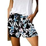 KISSMODA Women's Summer Casual Waist Elastic Band Design Loose Fit Beach Shorts