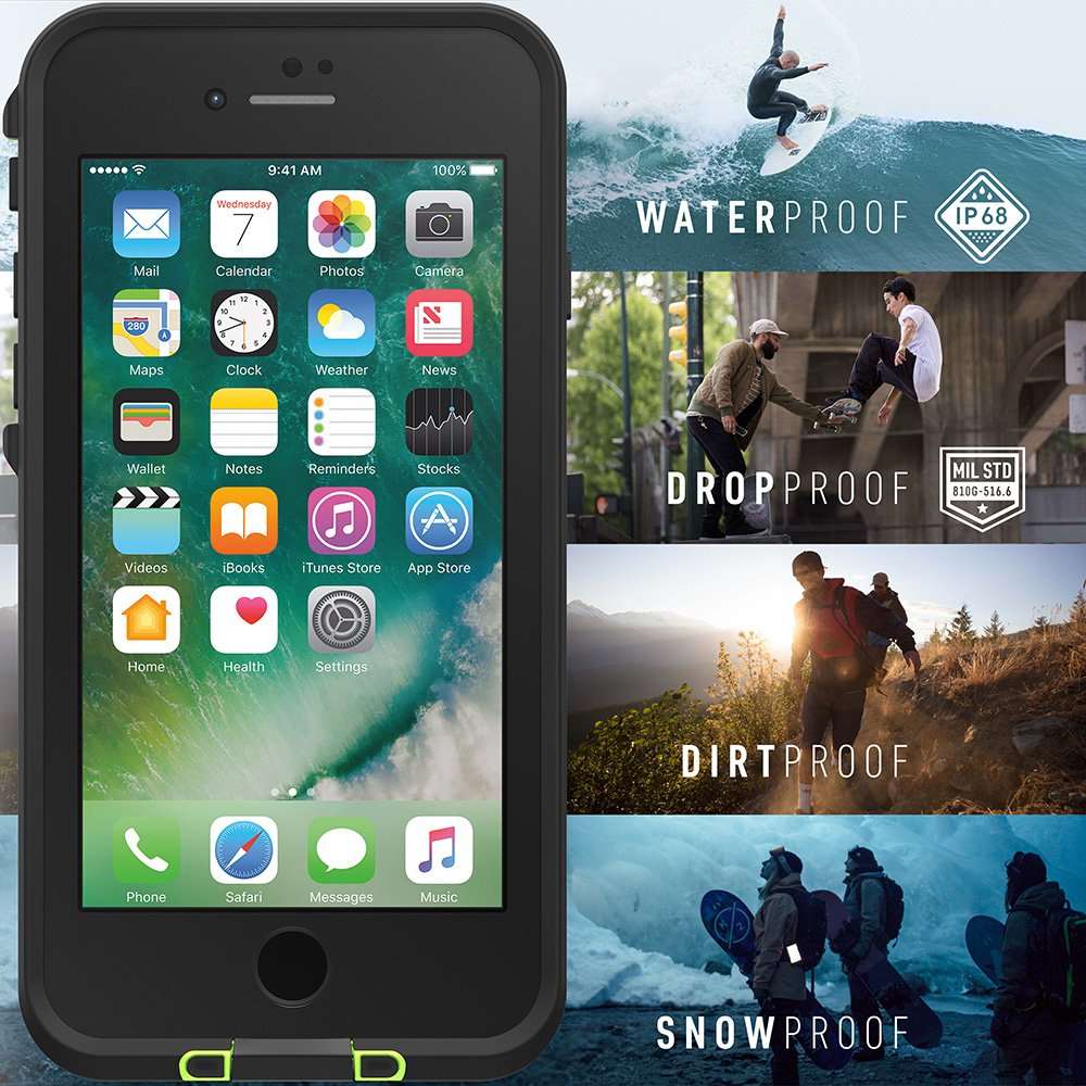 Lifeproof FRĒ SERIES Waterproof Case for iPhone 8 & 7 (ONLY) - Retail Packaging - BANZAI (COWABUNGA/WAVE CRASH/LONGBOARD) by LifeProof (Image #7)