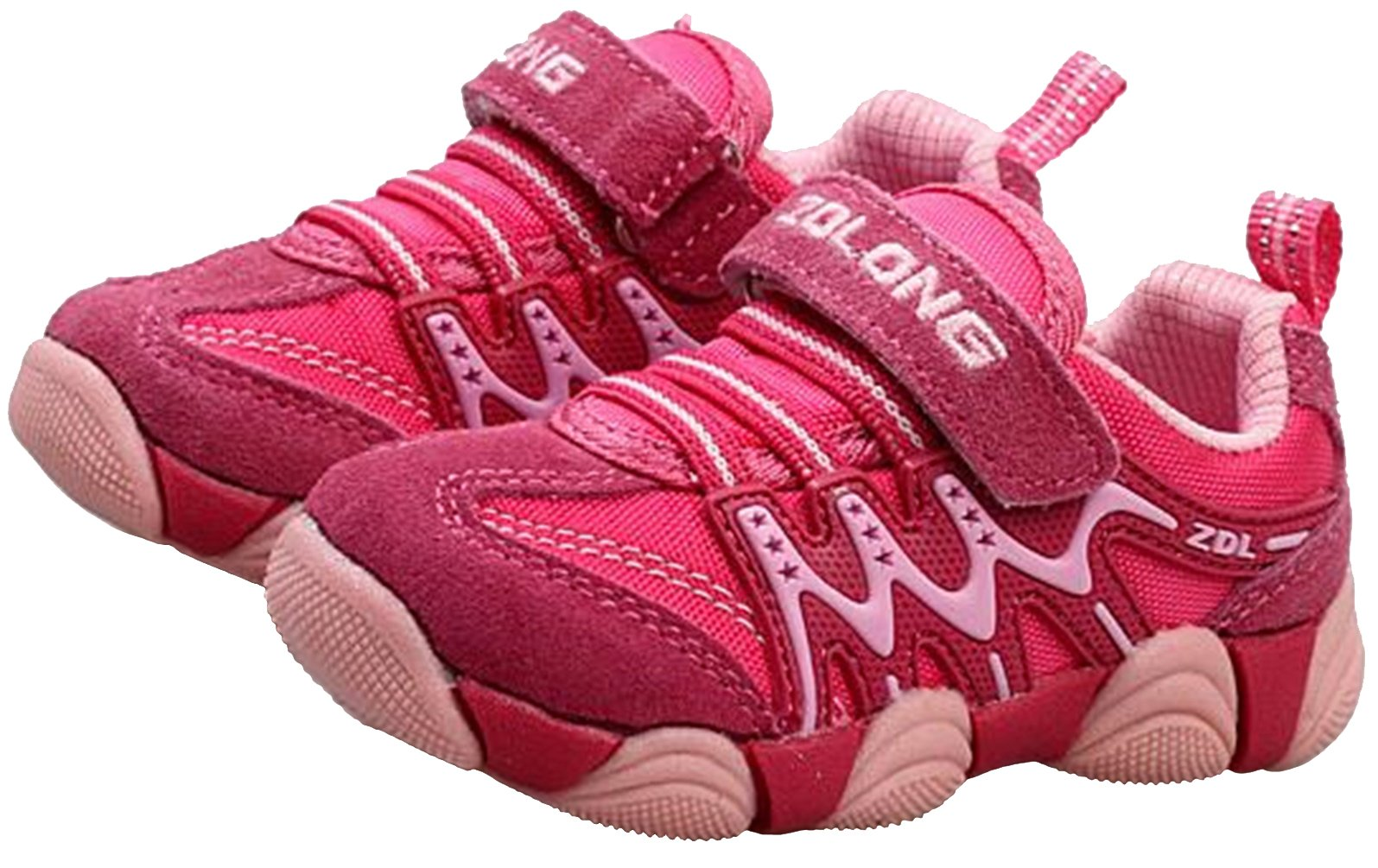 PPXID Boy's Girl's Athletic Lace up Casual Sneaker Running Shoes-Pink 11.5 US Size by PPXID (Image #1)
