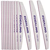 Edealing 12 Pack Professional Nail File Set Double-Sided 100/180 Grit Emery Board Manicure Tools For Nail Grooming and Styling