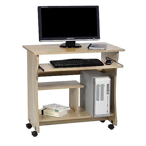 Pc schreibtisch  Computertisch Schreibtisch PC Tisch REZI in Sonoma Eiche mit ...