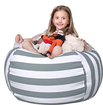 22 Beanbag Cover for Organizing Kids Room 22Base Ball Miaowater Unique 2PCS Stuffed Animal Storage Bean Bag Chair,Childrens Toy Organizer