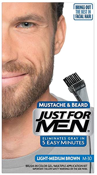 Amazon.com : Just For Men Mustache & Beard, Light-Medium Brown ...