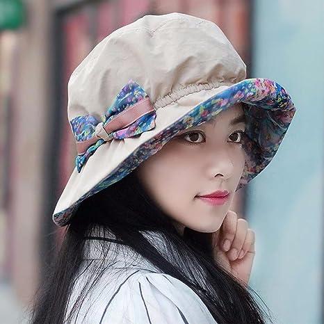 YXLMZ Señoras Mujeres Sombreros Tapa Exterior Four Seasons Visera Plegable  macetas rotas Sombreros Sombreros de Moda adb98f13eb3
