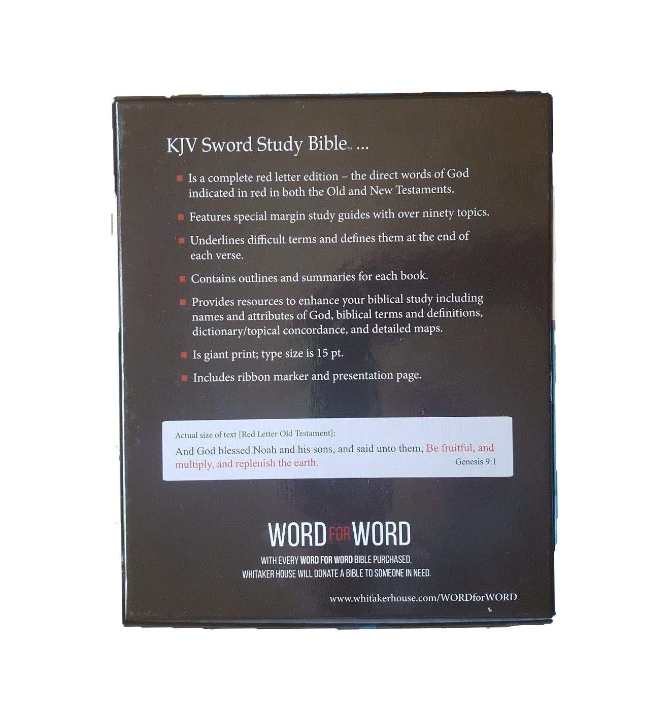 Amazon com: Come On Style Shop The Giant Print KJV Sword Study Bible